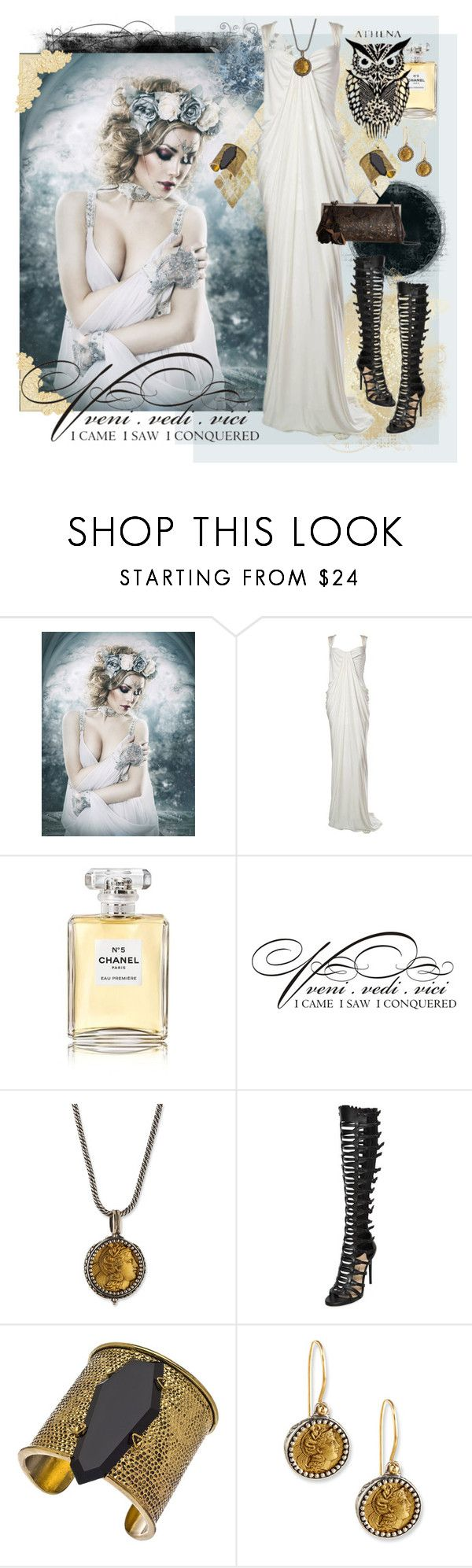 """Veni, vidi, vici"" by julyralewis ❤ liked on Polyvore featuring Donna Karan, Chanel, WALL, Konstantino, Paul Andrew, Gottex and Patricia Nash"
