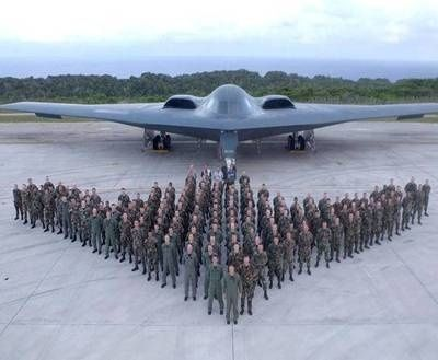 B-2 BOMBER SQUADRON PERSONAL FORM BOMBER SHAPE FOR GREAT PICTURE - WHITMAN AIR FORCE BASE, MO.