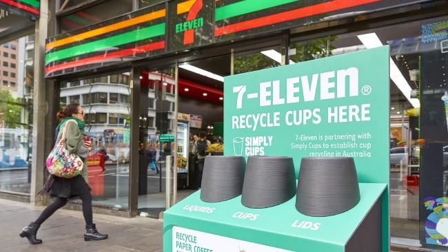 'We felt we had a responsibility' 7-Eleven to roll out recycling bins to stop takeaway cups going to landfill - NEWS.com.au #757Live