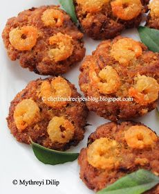 Chettinad Recipes: Chettinad Prawn Vadai / Eral Vadai