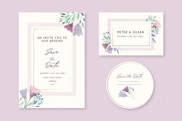 Download Beautiful Floral Wedding Invitation Cards For Free