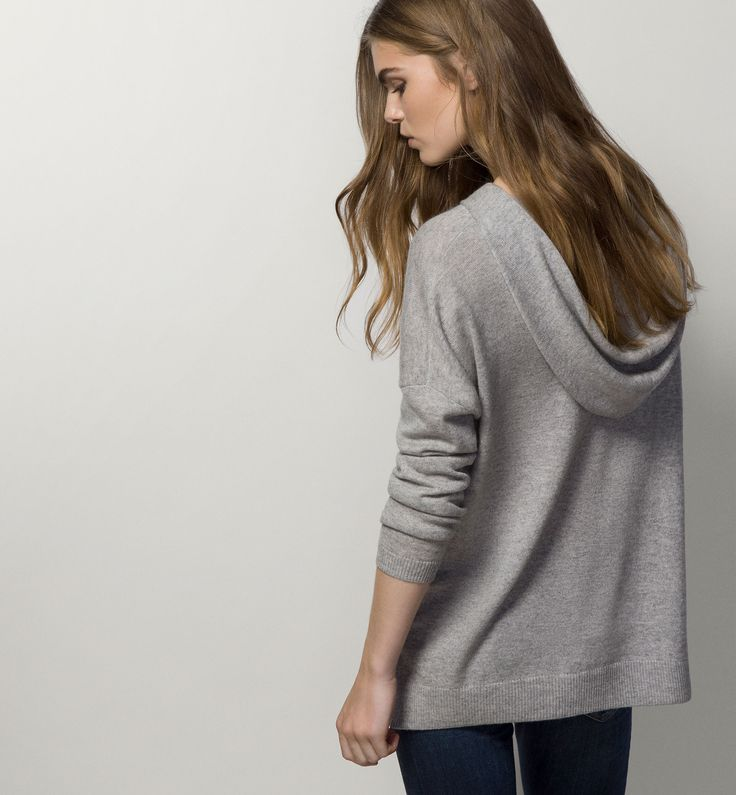 100% CASHMERE HOODED SWEATSHIRT