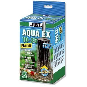 JBL AquaEx Nano 10-35 - Cloche à vase pour nano aquariums 7,92 € L'AquaEx Nano Set 10-35 de JBL est un appareil de nettoyage du fond pour nano aquariums. Cette cloche à vase est très efficace pour aspirer les déchets dans les aquariums de petite taille et possède une grille amovible pour protéger les crevettes et les petits poissons d'une aspiration accidentelle.
