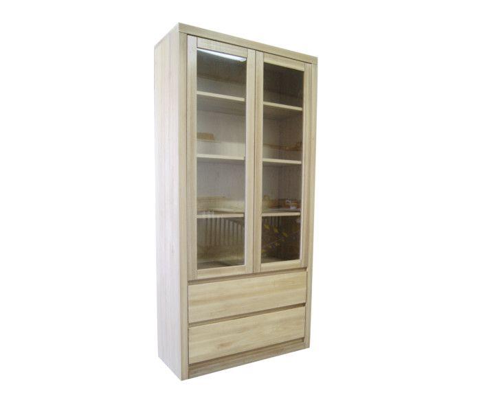 #witryna #drewno #producent Witryna bukowa oszklona[n16] Meble Drewniane - meble sosnowe producent