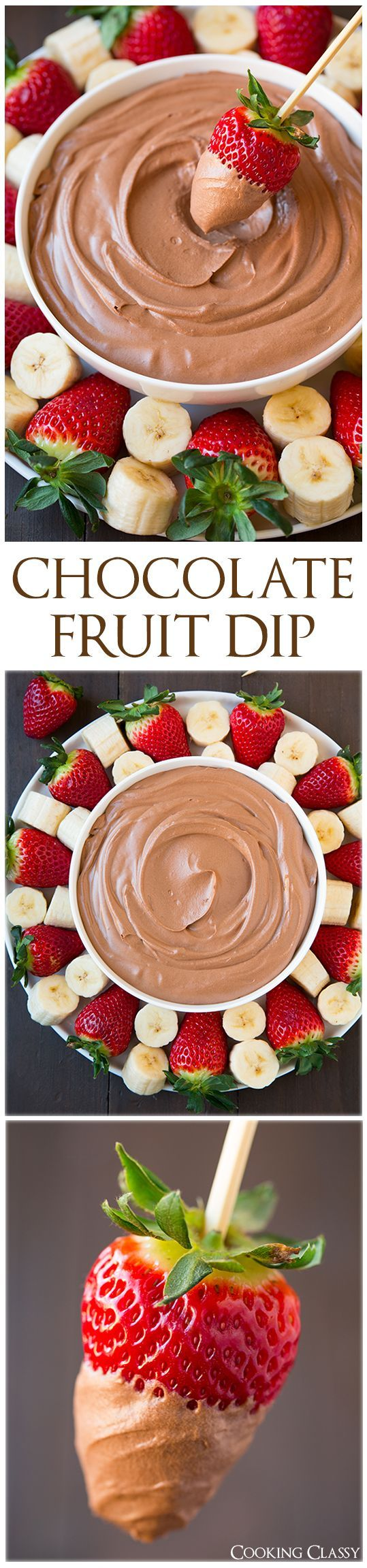 Chocolate Fruit Dip - is perfectly light and creamy and deliciously chocolatey. Easy to make too! Loved it!