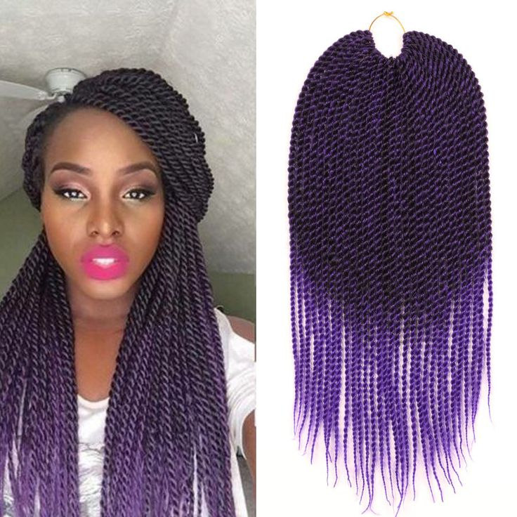 Purple Crochet Box Braids : ... Purple on Pinterest Purple box braids, Senegalese twists and Twists