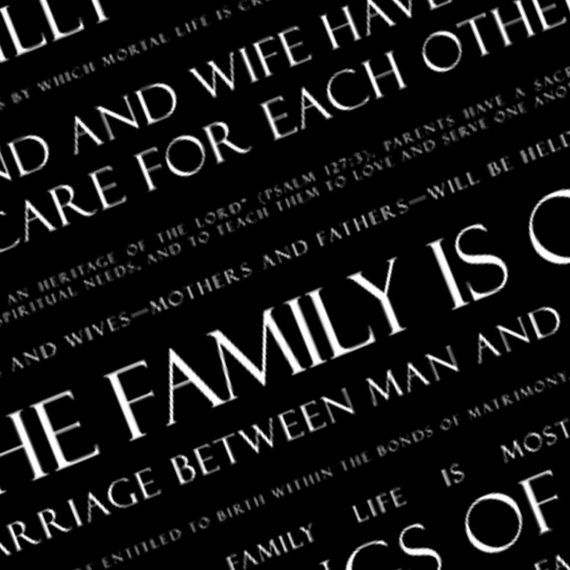 LDS Proclamation to the Family Subway Art Digital File
