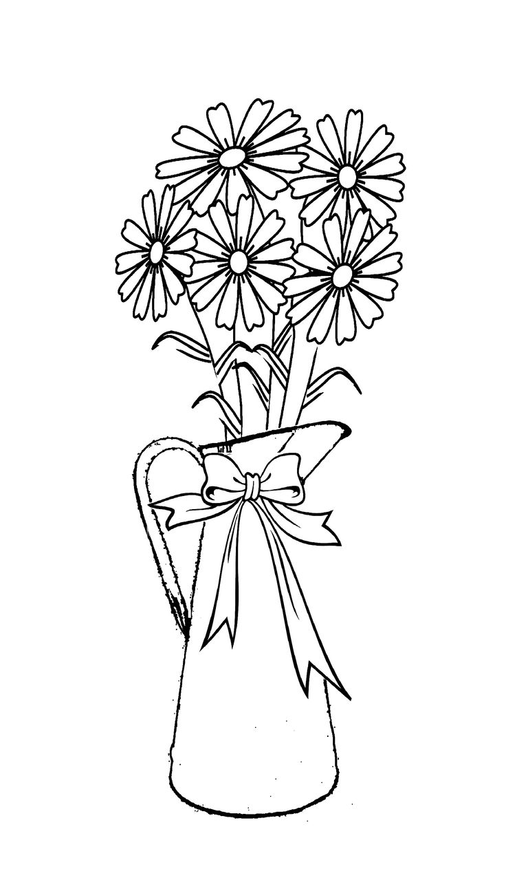 Coloring pitchers of flowers - Pitcher Of Flowers