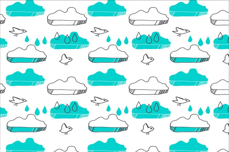 Heidis Birdies Rainy Day for magnetic wallpapers as a co-operation with Tehosteseinä Oy.