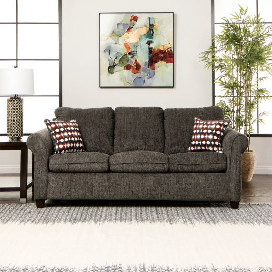 Reverb Queen Sleeper In Charcoal Polypropylene | Jeromeu0027s Furniture