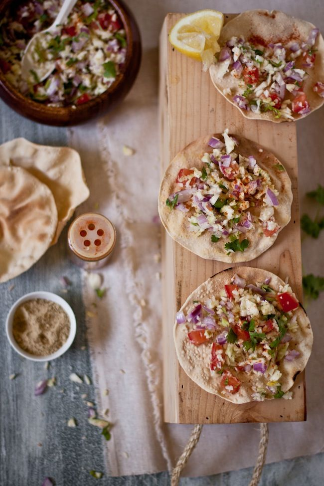 Masala Papad, a healthy and light appetizer. ~  India