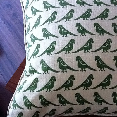 Pretty parrot cushion cover