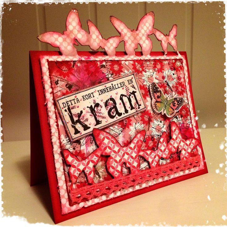 A card with a hug made by DT-Linda S http://blog.pysseldags.com/2014/09/kort-med-kram.html
