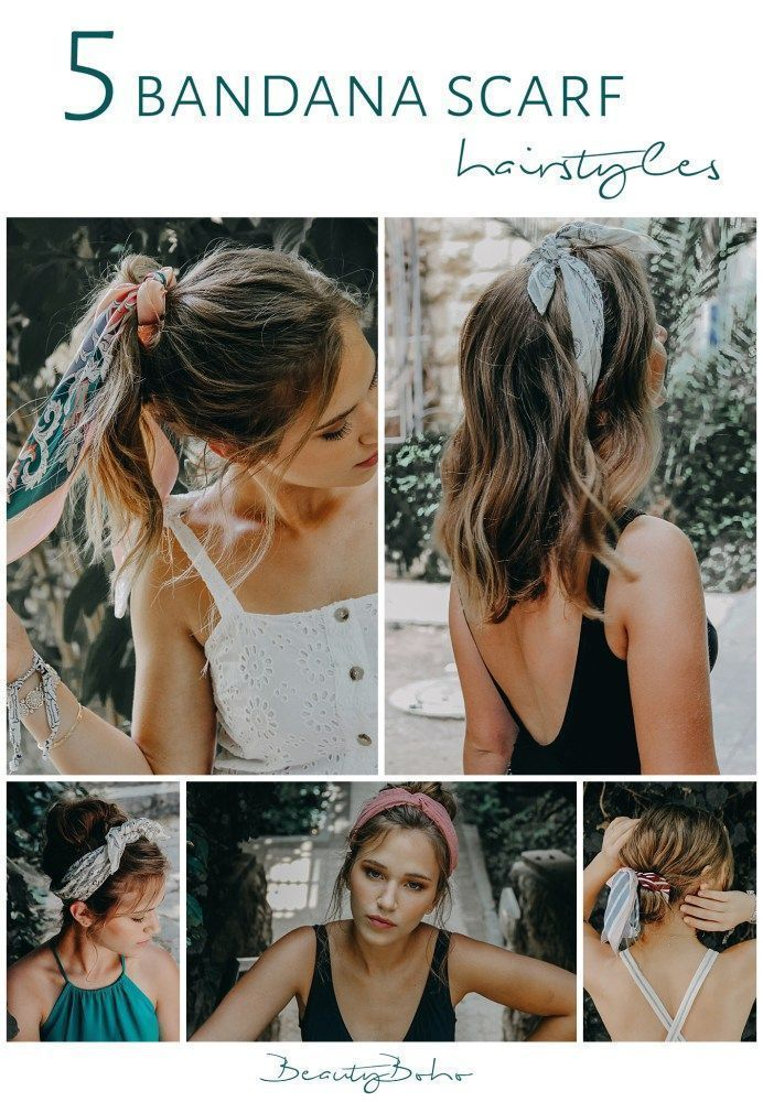 How To Use Bandana Kerchief Scarf Hairstyle Disheveled Hair Short Hair How To Advertise Hair Styles Hair Scarf Styles Boho Chic Hairstyles
