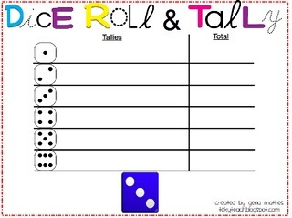 Introducing Tally Marks. Everyday math journal game too