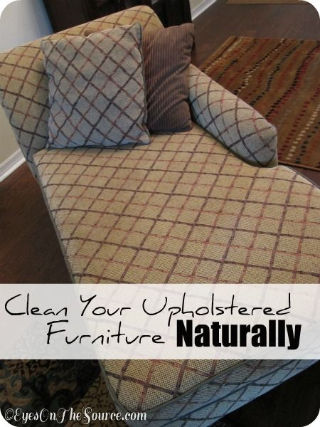 DIY Spring Cleaning. How to clean your upholstered furniture or the seats in your car Naturally!