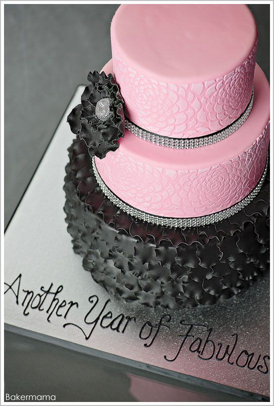 Def my most favorite cake in a LONG time!!!!  LOVE, LOVE, LOVE this cake!!!!   What would it look like with darkest purple, then lighter and lighter????