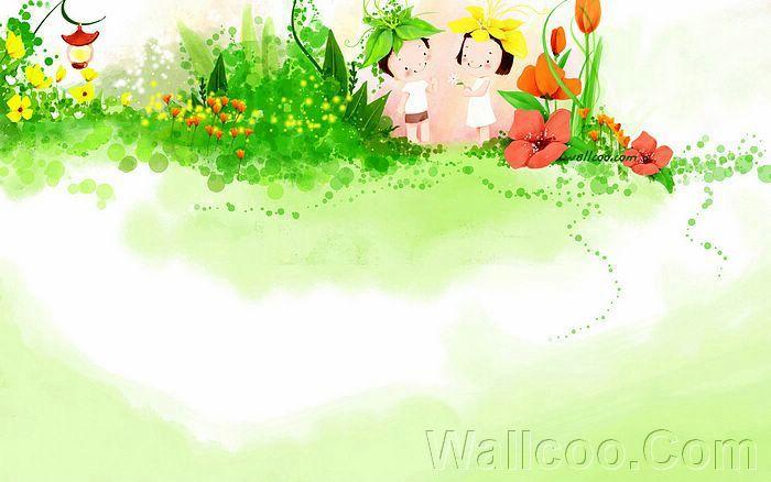 Kim Jong Bok Illustrations(Vol.04) : Sweet Puppy Love   - Childhood Sweetheart - Sweet Couples Cartoon Wallpaper  19