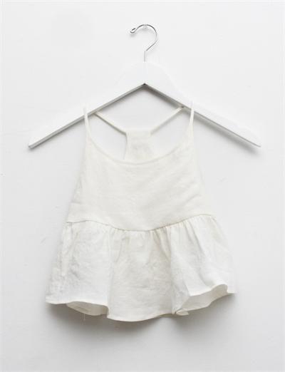 White linen Belle top.