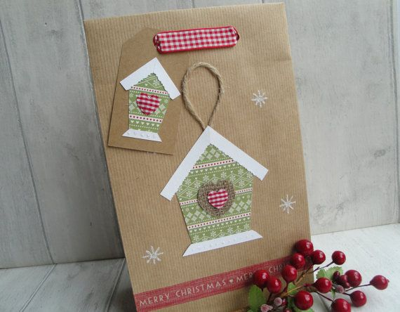 Personalised Christmas Gift Bag Scandi Style by HolmemadeWithLove