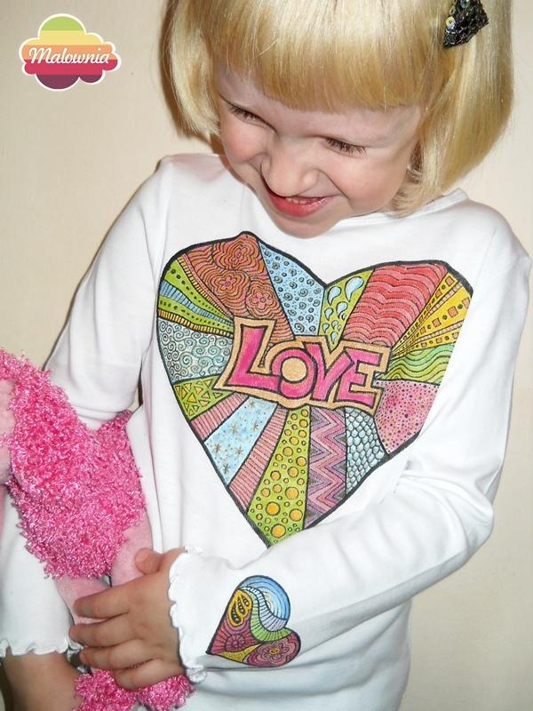 Big heart on T-shirt