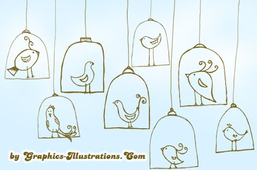 Doodle Birdies Digital Stamps for GBG Members