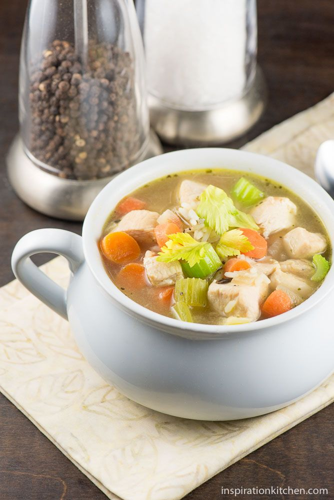 Wild Rice and Chicken Soup - inspirationkitchen.com