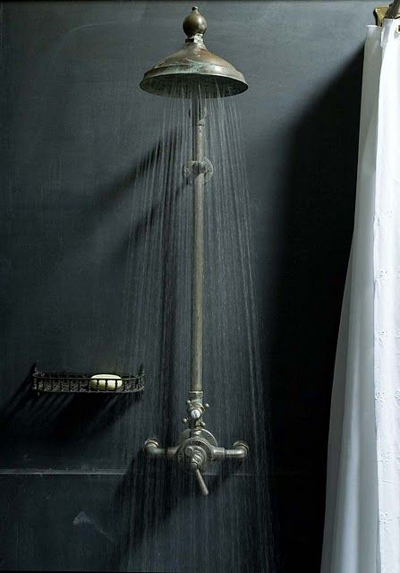 Showering in the dark - I wish with all my heart an old Victorian shower mixer. This do I want into the bathroom in the basement, where I shower my sexy body most of the time (so the neighbors do not get too much excited ... or call the Police.