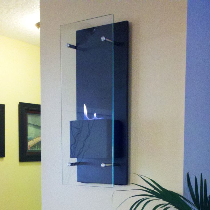 Wall mounted indoor fireplace