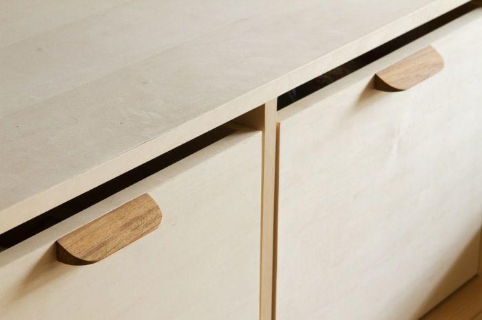 木製把手:3種類の樹種と3種類の形状から選べる、家具にちょうどいい把手です。