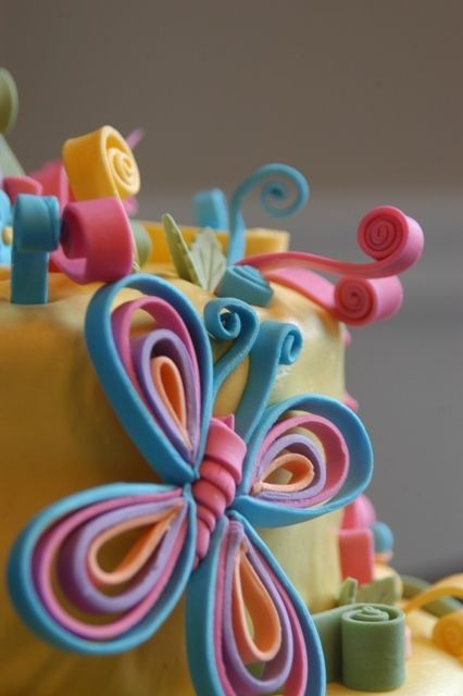 Cake Decorating Quilling : 17+ best ideas about Fondant Butterfly on Pinterest Baby ...