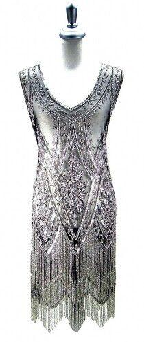 Art Deco dress divine. ~ETS #silver #artdeco #sublimevintage