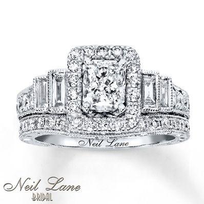 Neil Lane Bridal Set 2-1/3 ct tw Diamonds 14K White Gold