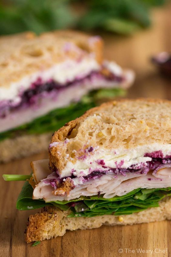 Don't be nervous. One bite of this Turkey Sandwich with Goat Cheese and Berry Preserves and you'll be hooked! (Sponsored)