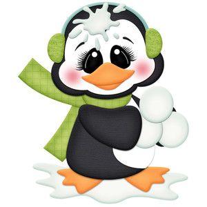Силуэт Дизайн магазина - Просмотр Дизайн # 117611: пингвин в снежки