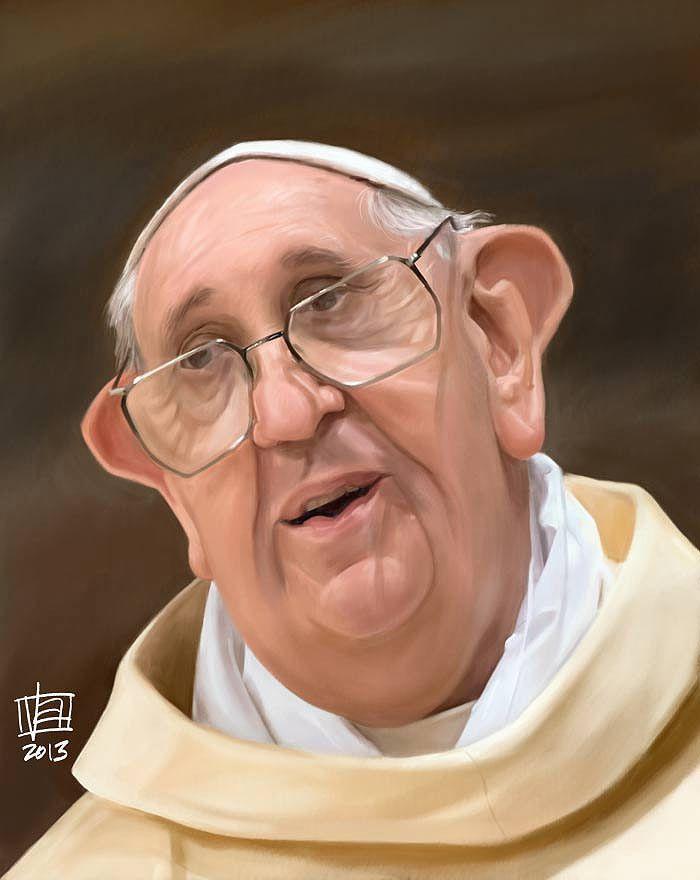 Caricatura del Papa Francisco.
