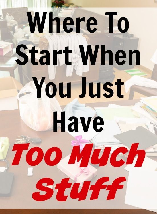 how to start decluttering. Your house took a long time to get into the overloaded shape it is in and it's going to take time and energy to undo it. Too much stuff means you have to spend too much time caring for it. Ignore the sunk costs and work on getting rid of things.