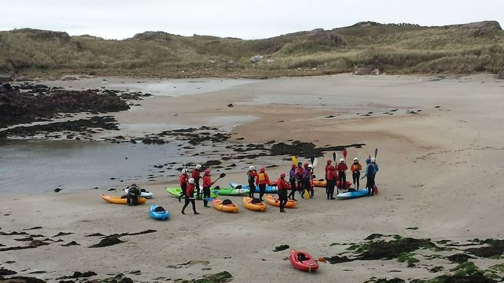 ready to hit the sea on their top sitting kayaks.