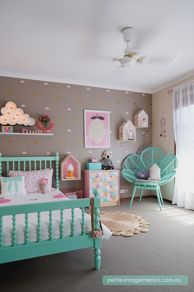 Attractive Mushroom Turquoise And Pink Girls Room Part 27