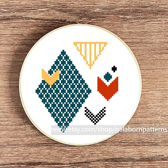 Tittle: Chevron 1    This PDF counted cross stitch pattern available for instant download.    Skill level: Beginner.    Floss: DMC    Fabric: