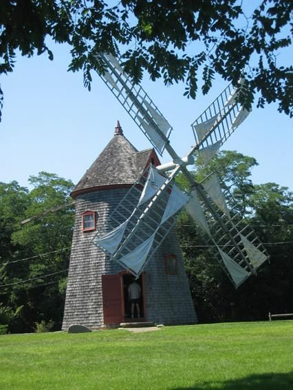 Windmill in Eastham, Cape Cod.  For info. about when the mill is open for tours, visit  https://www.eastham-ma.gov/eastham-windmill