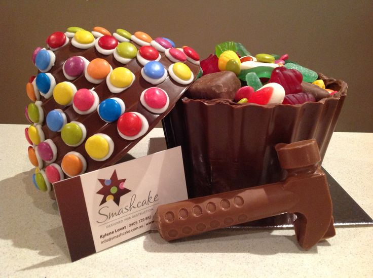 Filled with lollies & chocolates, complete with chocky hammer!