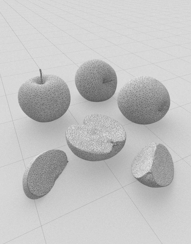 Photorealistic 3D model Granny Smith apple - CG-Moa