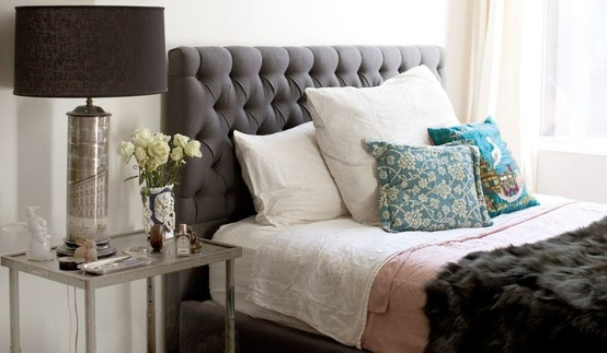 Axel Pewter Linen Tufted Headboard Headboards: 145 Best Images About Bedding/room On Pinterest
