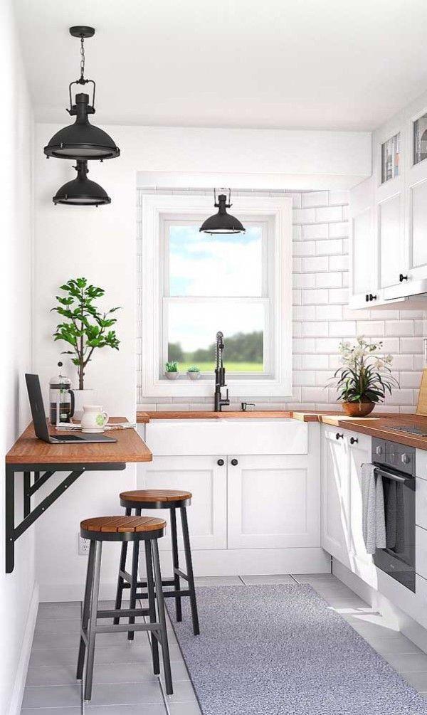 Over 50 Elegant Design Ideas With A Small Kitchen Table Uber 50 Elegante Designideen Mit Einem K In 2020 Small Kitchen Tables Small Kitchen Decor Kitchen Design Small