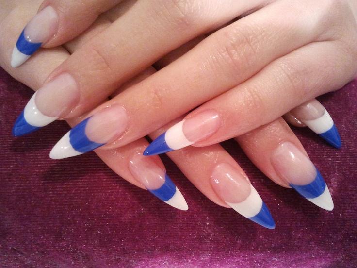 French dublu alb si albastru