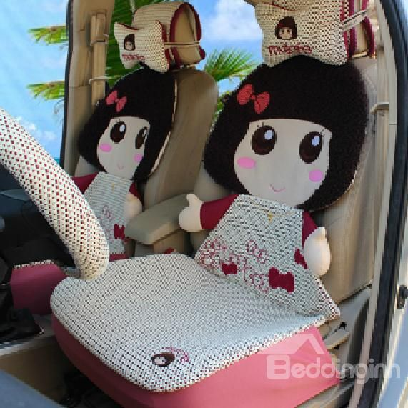 New Arrival Cute Little Girls Style Pretty Ice Silk Seat Covers
