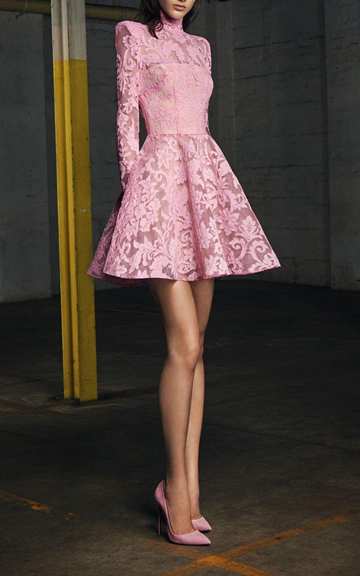 https://goo.gl/OVwNgz #ootd #style #ootdmagazine Alex Perry Orion Lace Long Sleeve Mini Dress