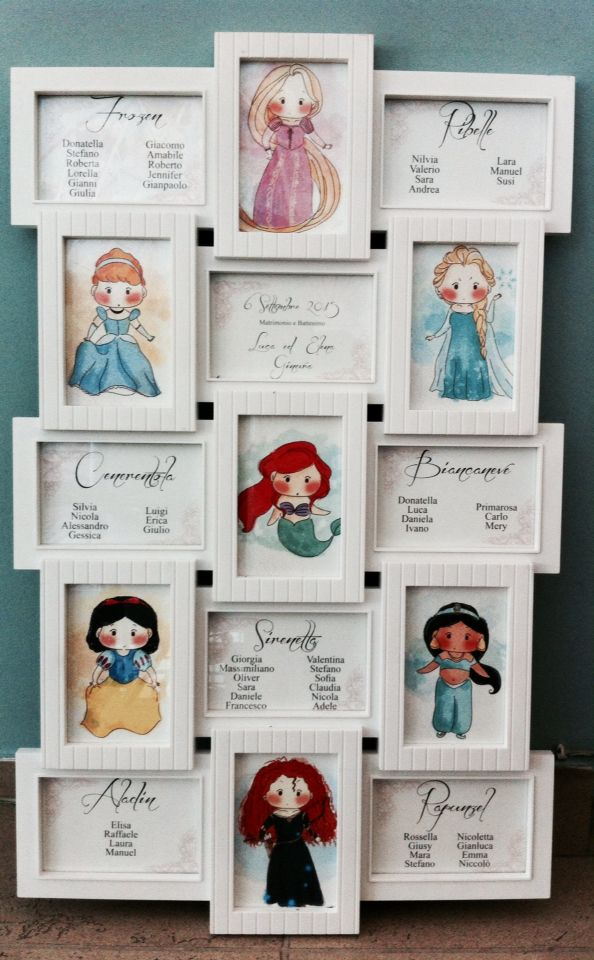 Captivating Tableau De Mariage Con Cornice Bianca Multiframe Per Matrimonio E Battesimo!
