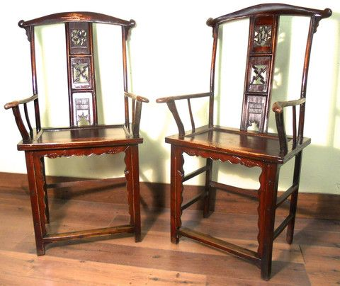 Antique Chinese High Back Arm Chairs (Pair), Circa - 218 Best Antique Chinese High Back Chairs/Arm Chairs Images On